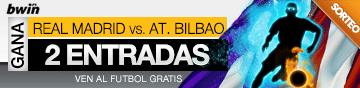 Promoción de 2 entradas para Real Madrid - At. Bilbao