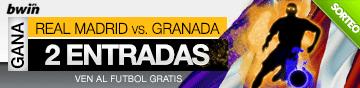 Promoción de 2 entradas para Real Madrid - Granada