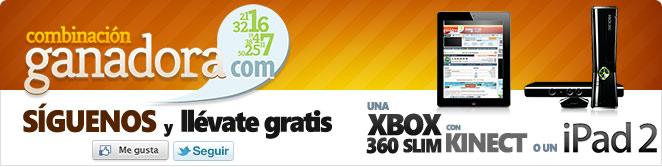 SÍGUENOS Y GANA UN IPAD 2 O UNA XBOX360 CON KINECT
