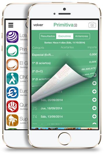 APPS móviles de Combinación Ganadora