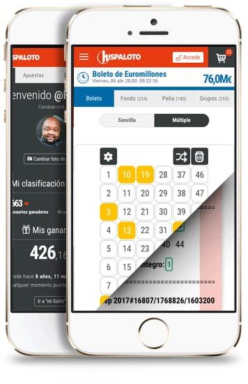 APPS móviles de Hispaloto