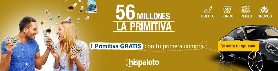Bote 56 millones en Primitiva