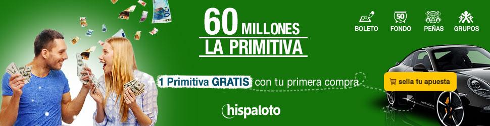 Bote 60 millones en Primitiva