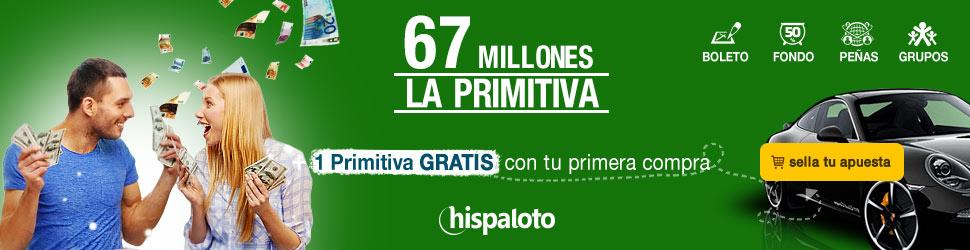 Bote 67 millones en Primitiva