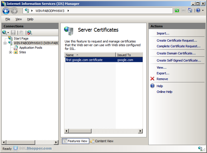 Instalar SSL en IIS 5