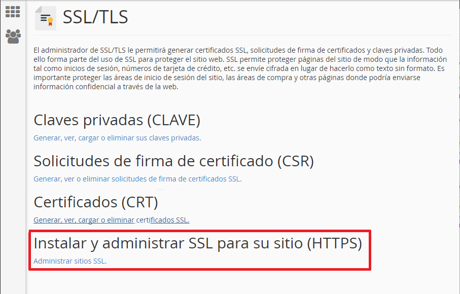 Install SSL on Cpanel